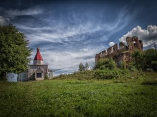 Новоспасск, Спасо-Преображенская церковь. Крестовоздвиженская церковь