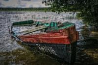 Лодка на Белом озере