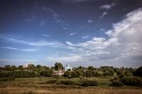 Вид на Смоляны с замковой возвышенности